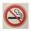 Betontegel ''verboden te roken''
