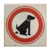 Stoeptegel verboden honden te laten poepen