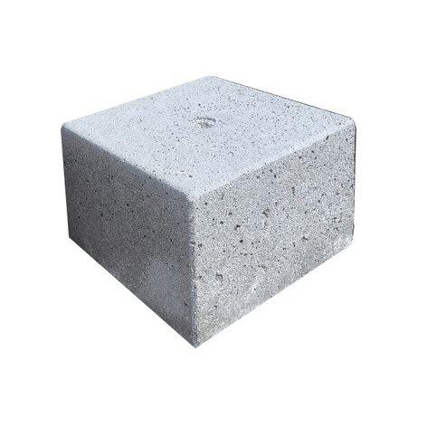 Betonpoer 30x30 en 20 cm hoog grijs