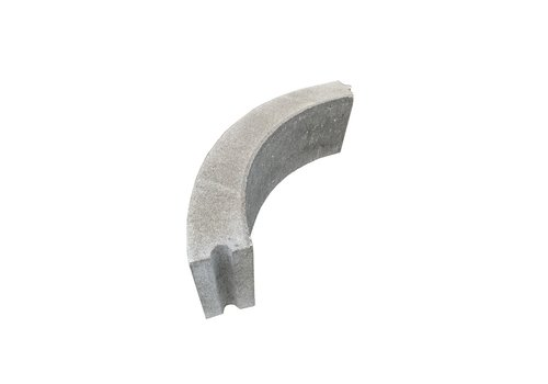 Opsluitband bochtstuk grijs 10x20x78,5 cm R=0,5