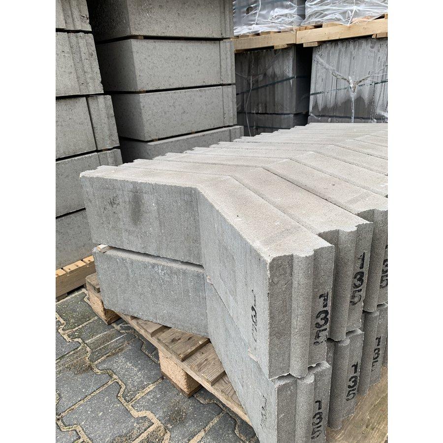 Opsluitband hoekstuk grijs 10x20x40/40 cm 135°
