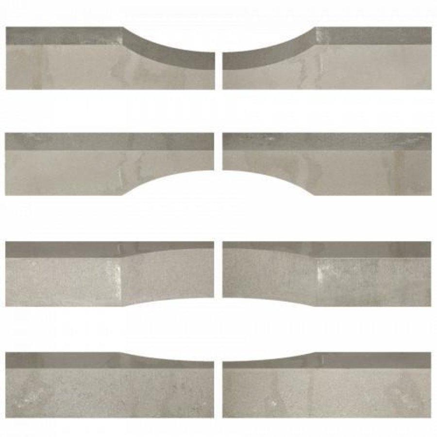 Stapelblok Wave grijs 15x15x60 cm
