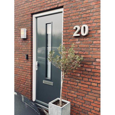 Huisnummer beton 0