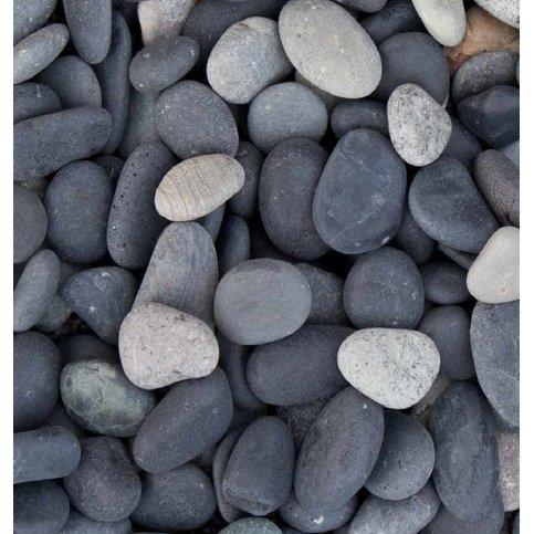 Beach pebbles zwart Zakje 20 kg