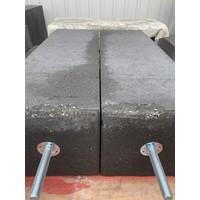 B-keus Betonpoer 20x20x60cm antraciet incl. hoogteverstelling