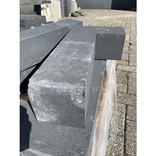 B-keus Stapelblokken hoekstuk antraciet 15x15x60 cm strak