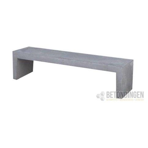 Tuinbank beton 220 cm grijs/antraciet