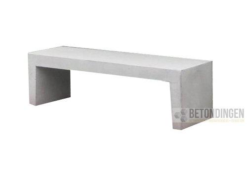 Tuinbank beton 220 cm wit/grijs