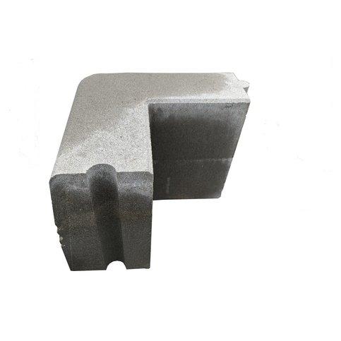 Trottoirhoekbanden uitwendig 13/15x25 cm