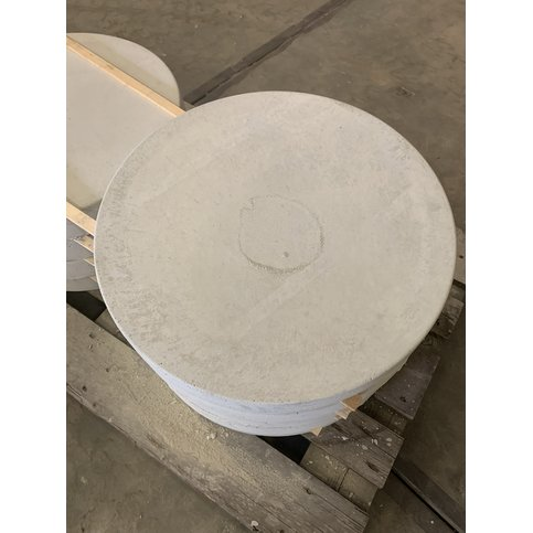 Ronde tegels grijs 55cm B-keus