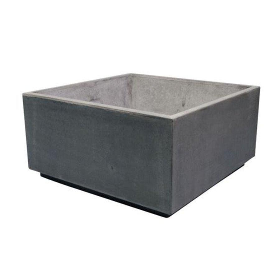 Bloembak vierkant XL met voet