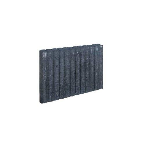 Palissadebanden antraciet Ø 6x40x50 cm