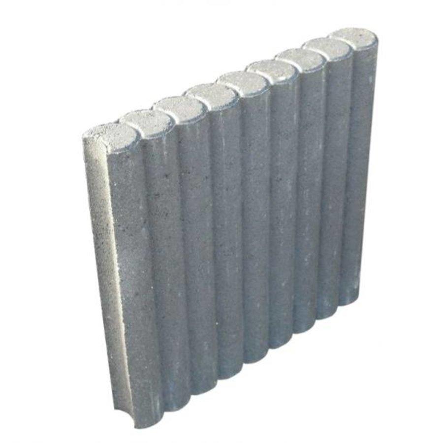 Palissadebanden grijs Ø 8x50x50 cm