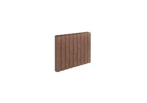 Palissadebanden bruin Ø 8x50x50 cm