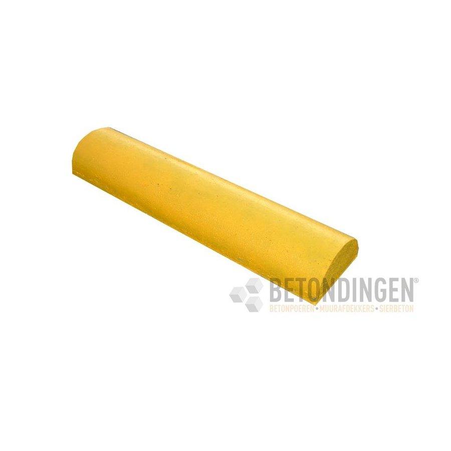 Varkensrug beton 2 kanten recht geel