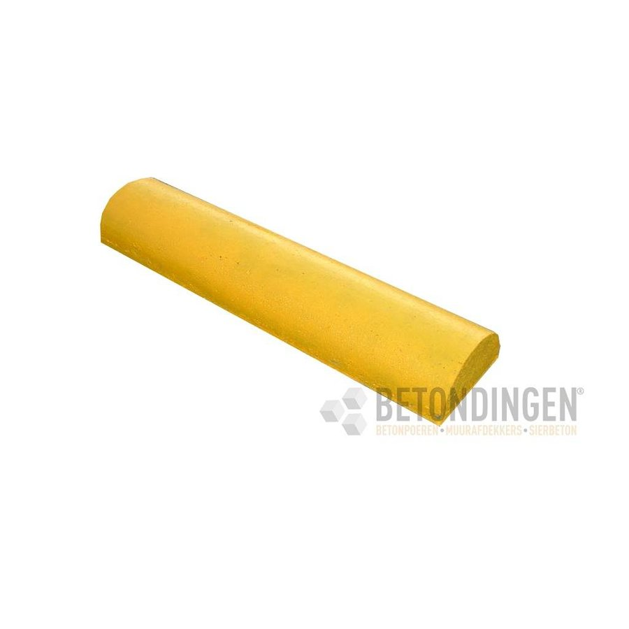 Varkensrug beton RECHT geel