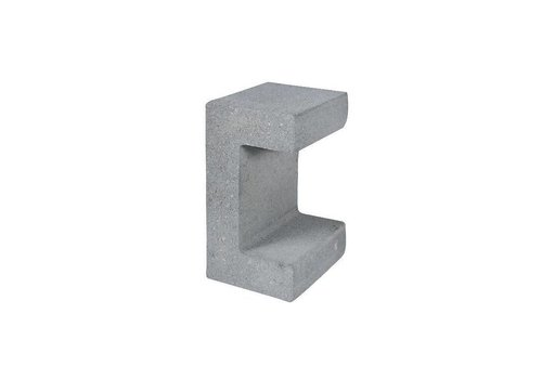 U element beton 20x15x30 grijs