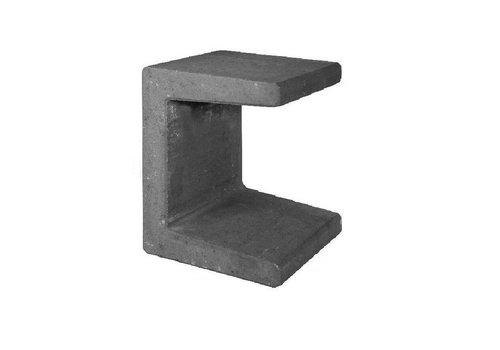 U-elementen beton 50cm antraciet