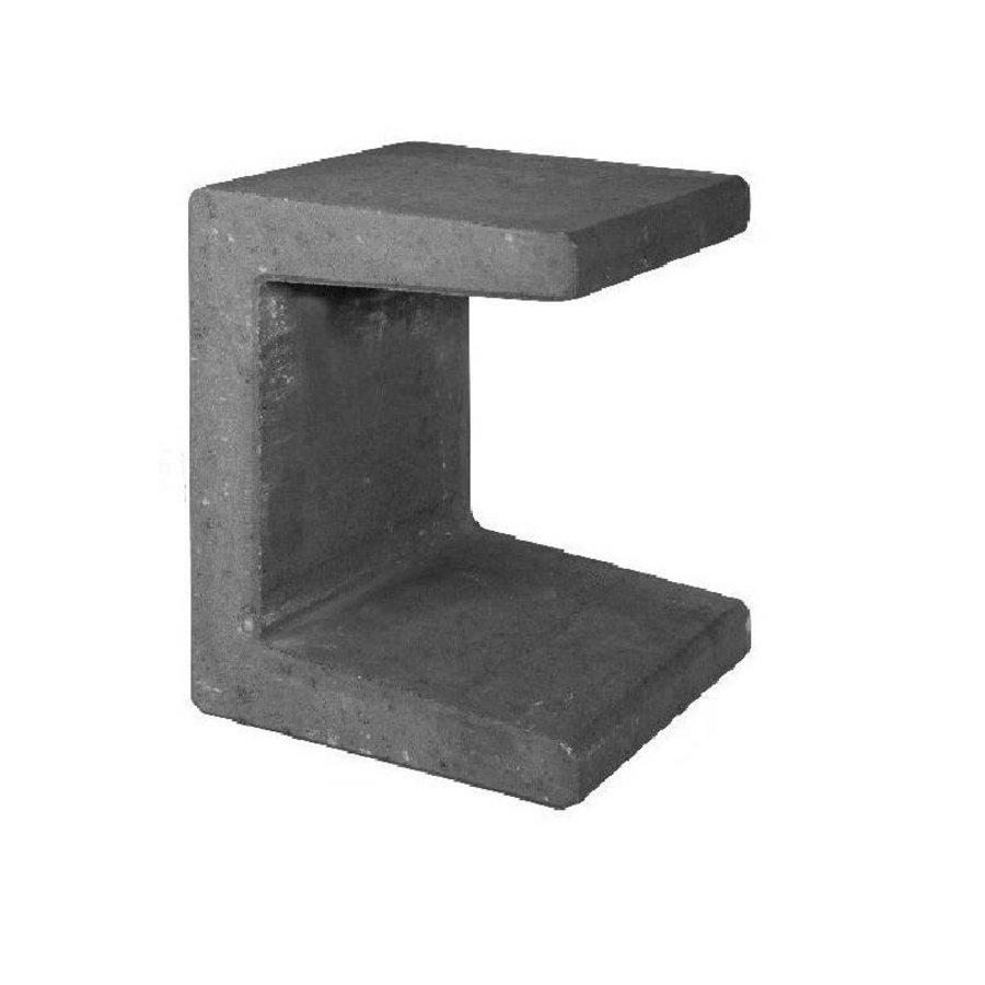 U elementen beton 50cm antraciet