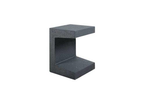 U-elementen beton 40cm antraciet