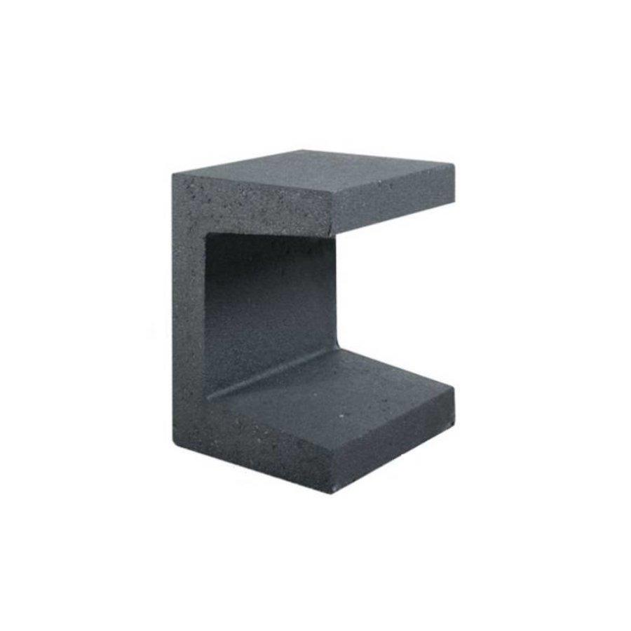 U element beton 30x30x40 antraciet