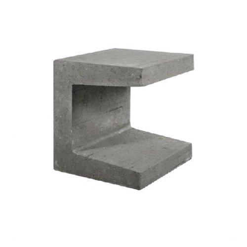 U-elementen beton 40cm grijs