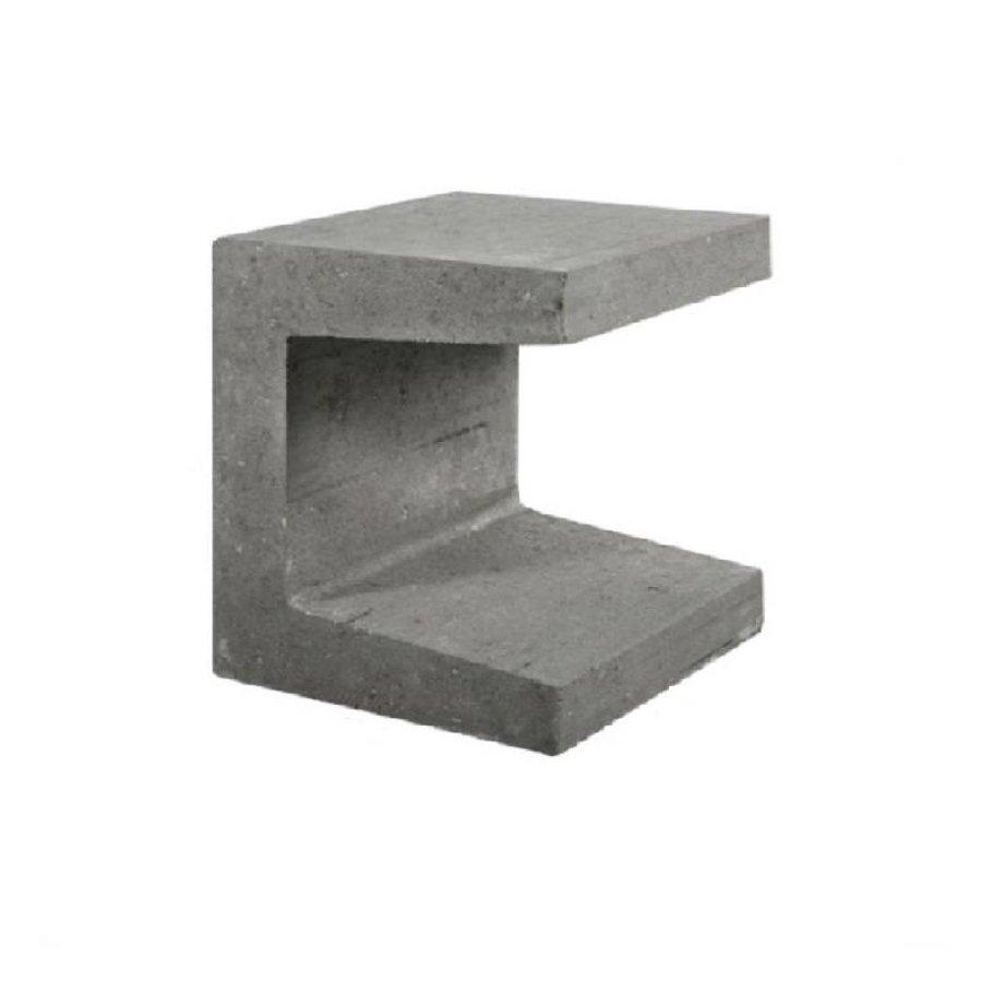 U element beton 30x30x40 grijs