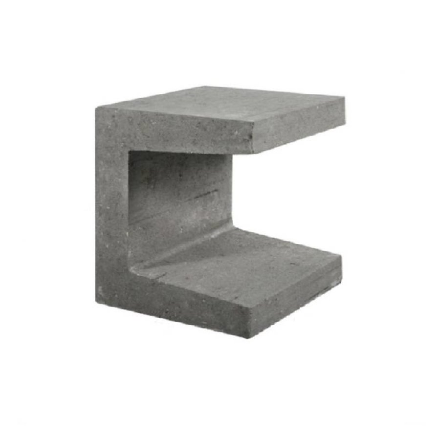 U-elementen grijs 40 cm