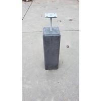 Betonpoer 15x15 en 50 cm hoog antraciet M16