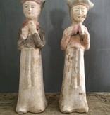 Oude terracotta beeldjes