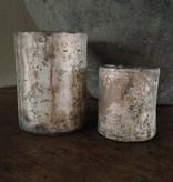 Glazen waxinelichthouder (L)