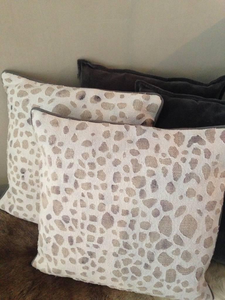 Stonewashed printed kussen