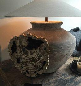 Versteend hout op statief