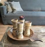 Kandelaar oud hout (S)