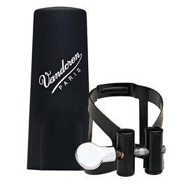 Vandoren esklarinet rietbinder M/O zwart met kunststof dop