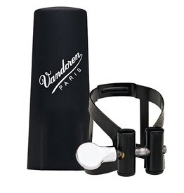 Vandoren basklarinet rietbinder M/O zwart met kunststof dop