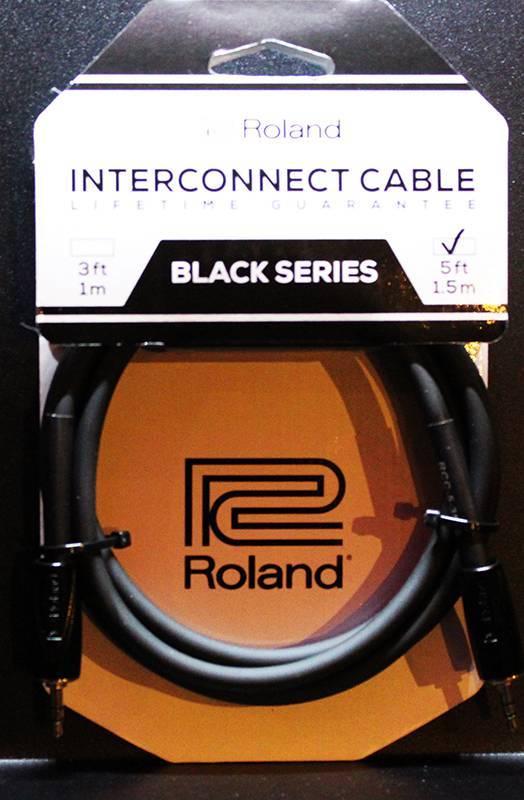 ROLAND RCC-5-3535 interconnect cable Black Series mini stereo jack - mini stereo jack 1.5m