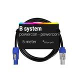 B System  Powercon - Powercon,voedingskabel, 5 meter BS-pc-pc5