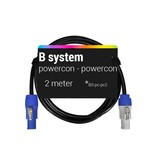 B System B system Powercon - Powercon,voedingskabel, 2 meter BS-pc-pc2