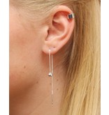 LAVI Pull through earrings Silver Ball