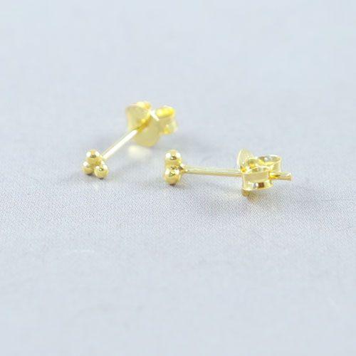 LAVI 3 dots Ear Studs - Gold