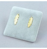LAVI Gold plated Sterling Silver Feather Stud Earrings