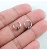 LAVI Sterling Silver Bali Hoop Earrings 10mm