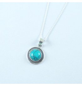 LAVI Sterling Silver Turquoise Necklace
