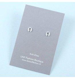 LAVI Sterling Silver Horseshoe Stud Earrings