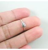 LAVI Oxidized Feather Ring - Copy