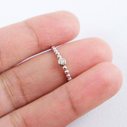 LAVI Zilveren Bolletjes Ring  met Zirkonia