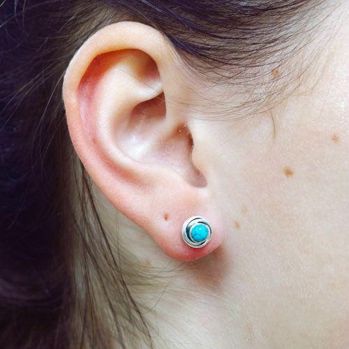 LAVI Turquoise Ear Studs