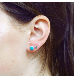 LAVI Turquoise Oorknoppen