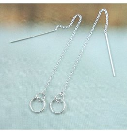 LAVI Pull through earrings Silver
